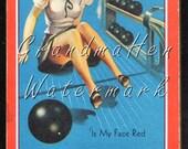 Vintage Pinup Bowling Memo Note Tablet Advertising Ephemera