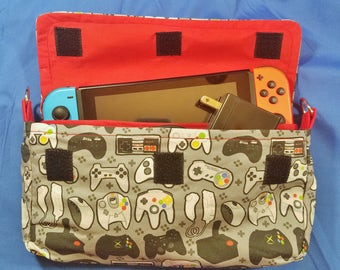 Grey Contoller Pattern Nintendo Switch Carrying Case - Made to Order