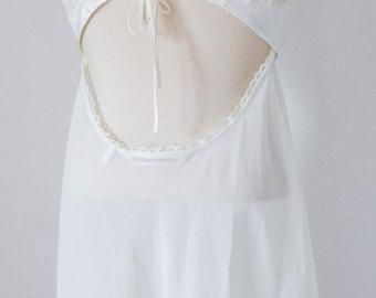 Vtg VICTORIA'S SECRET Satin & Lace Camisole, Low Back, Medium