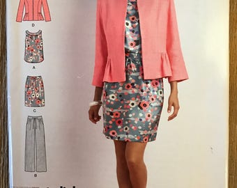 UNCUT Simplicity 0510 Top, Jacket, Skirt, Pants Sewing Pattern Size 8-10-12-14-16 Outfit, Wardrobe, Spring, Summer, Blazer, Shirt, Blouse