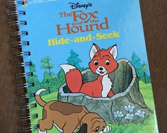 Just the Covers // The Fox and the Hound Hide and Seek Little Golden Book Recycled Notebook