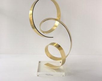 Dan Murphy Sculpture, Vintage Abstract Metal Sculpture, Early Dan Murphy Ribbon Sculpture, Modern Sculpture, North Carolina Modern Art