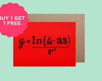 SALE BOGOF Maths Christmas Card