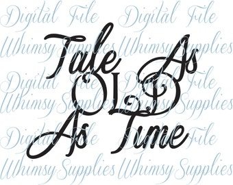 Tale As Old As Time Digital File Clip Art PNG SVG JPG Pdf Beauty and The Beast Inspired clipart