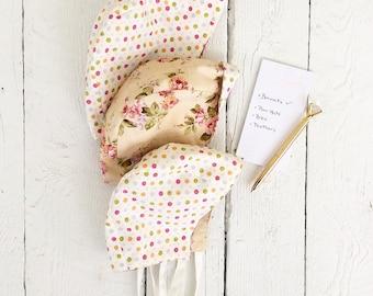 Reversible Baby Bonnets -floral/dot (original style)