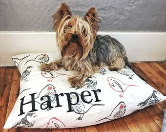 Dog Bed Cover - Personalized Dog Bed - Custom Dog Bed - Pet Bed - Modern Dog Bed Cover - Small to Large Dog Bed - Washable Dog Bed ALL SIZES