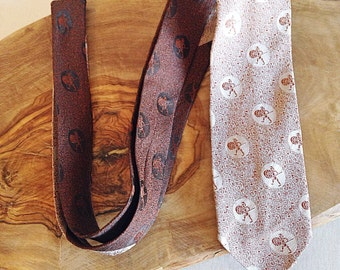 Vintage Mid Century Trojan Skinny Necktie Retro Tie