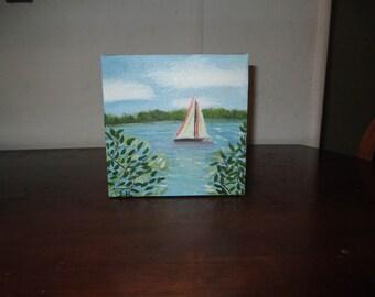 Small oil Painting/ Sailing Anyone?