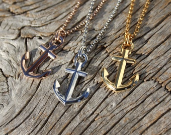 Nautical anchor necklace - Waterproof Maris Sal steel necklace
