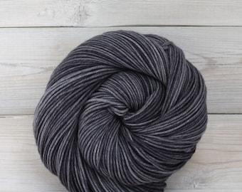 Aspen Sport - Hand Dyed Superwash Merino Wool Sport Yarn - Colorway: Charcoal