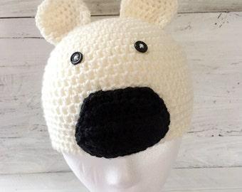 Polar Bear Hat - Polar Bear - Bear - Hat - Animal