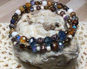Free Shipping - Energy - Bohemian Bracelet Sets/Boho Czech Bracelets/Czech Glass Bracelets/Bohemian Stone Bracelets/Healing Bracelets