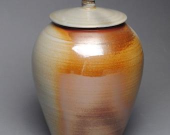 Clay Covered Jar Soda Fired G61
