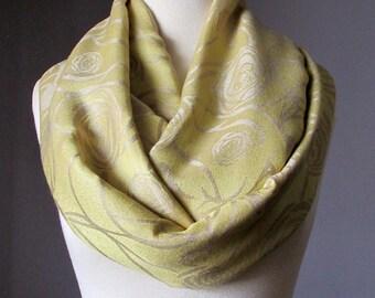 Yellow scarf, mustard scarf , silky infinity scarf, long scarf,  fall scarf, cowl
