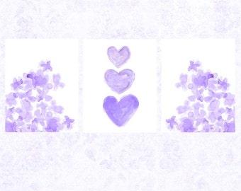 Purple nursery decor   Etsy