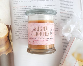 Sugar Cookies 8oz Jar Candle — Scented Soy Candle