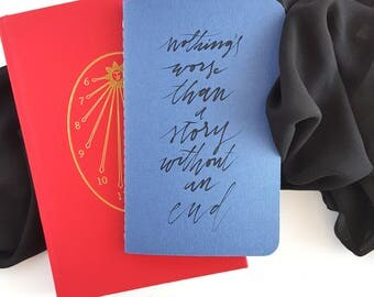 Nothing Worse Than a Story Without an End Journal —Hand Lettered The Bone Season by Samantha Shannon Notebook or Planner
