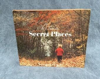 1971 'Secret Places' Hardcover Children's Photography Book - Exploring