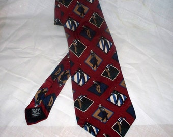Golf Theme Men's Tie by Ashley Stuart - Silk - Made in USA