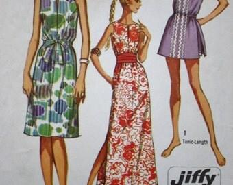 1970s Dress Pattern / Simplicity 9359 / Tennis Dress /  Vintage Sewing Pattern /Maxi Dress/ Bust 36
