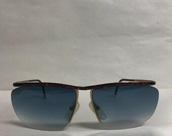 Vintage sunglasses blue lenses by Logo Paris