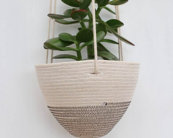 Hanging Planter in Darkest Grey