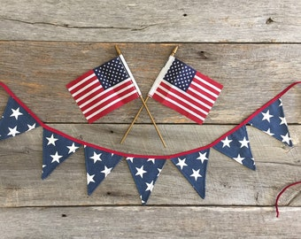 Star banner, 4th of July, Patriotic Banner, Memorial Day, Flag Day, Summer Banner, America Banner, Blue Banner, Independance Day