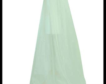 Beautiful Mint Green Shimmer Organza Cloak. Ideal for a Summer Wedding, Handfasting or Medieval Event. Brand New. Made Especially For You.