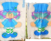 "1981 Original Strawberry Shortcake Characters Pillow Panel for 21"" Doll - 3 Available- Retro Kids Decor Sewing Fabric Panels Craft Supply"
