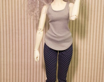 Gray tank top for minifee and msd sized bjd
