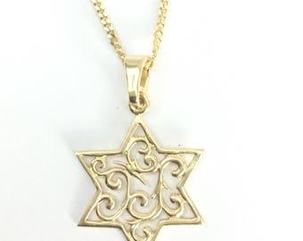 Jewish Star Necklace, Star Of David necklace, Jewish jewelry, Israeli jewelry, Made in Israel jewelry, Religious jewelry, Meaningful jewelry