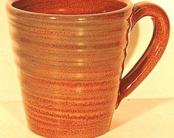 Coffee Mug Rackliffe Studio Pottery Brown Moss Agate Blue Hill Maine