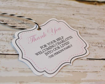 New Baby, Baby Shower Tags, Thank You Tags, Favor Tags, Gift Tags