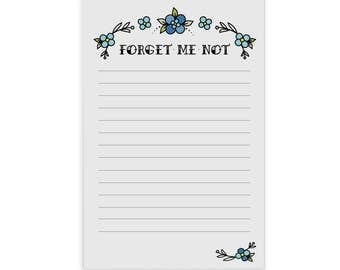 Forget Me Not - notepad