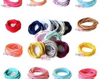 NEW THIN Nylon Headbands-Soft Stretch Head wrap-Wholesale Headbands-Soft Stretch Headband Nylon-Baby Headband-Baby