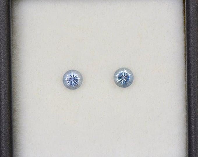 SALE EVENT! Fantastic Denim Blue Sapphire Gemstone Match Pair from Montana 0.48 tcw.