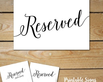 Reserved family sign | Etsy