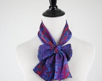 1980s Silk Intricate Patterned Oblong Scarf
