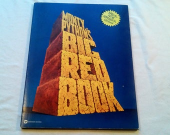 """Vintage 70's Comedy Softcover, """"Monty Python's Big Red Book"""" 1975."""