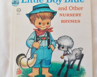 1956 Rand McNally book Little Boy Blue and other nursery rhymes hardcover