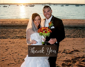 Thank You Sign Wedding Wood Photo Prop Rustic
