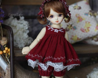Lady in red, dress set for MSD / YOSD(BJD)