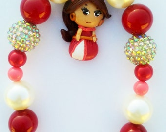 Princess Elena of Avalor inspired beaded necklace