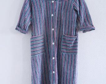 Scandinavian shirt dress cotton Marimekko style