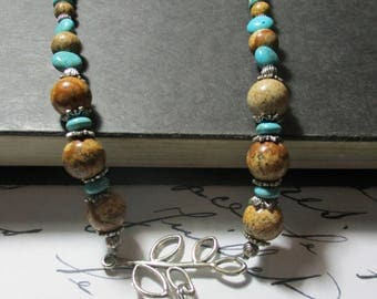 Harry Potter Hedwig Wise Owl Necklace. Silver, Turquoise, and Earth Tones. Boho. Bohemian. Graduate. Teacher Gift Graduation. Beaded.