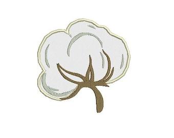 Cotton Plant  Appliques Design File for Embroidery Machine Monogram Applique Instant Download Southern Preppy