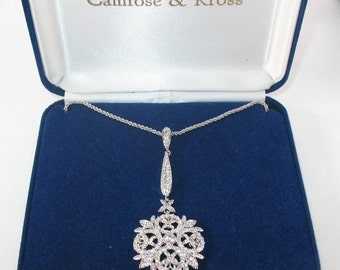 Jackie Kennedy Winter Crystal Necklace with Box and Certificate