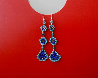 The beaded briolette earings - handmade by Luciana Lavin