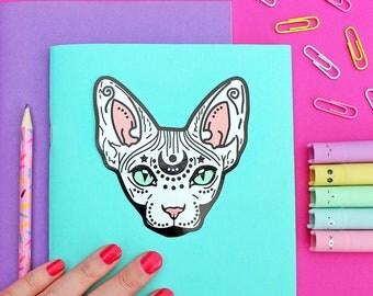 Mystical Sphynx Cat, Die Cut Vinyl Sticker -  10cm -  Cat Sticker