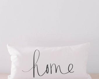 Lumbar Pillow - Home, home decor, housewarming gift, cushion cover, throw pillow